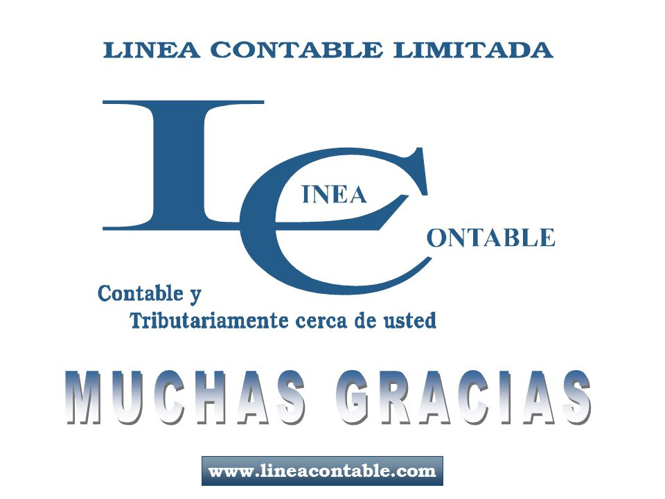 MUCHAS GRACIAS www.lineacontable.com 129/129