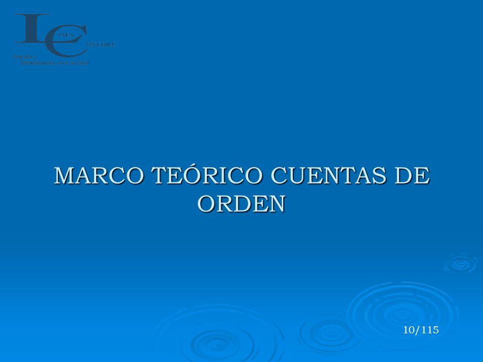MARCO TEÓRICO CUENTAS DE ORDEN