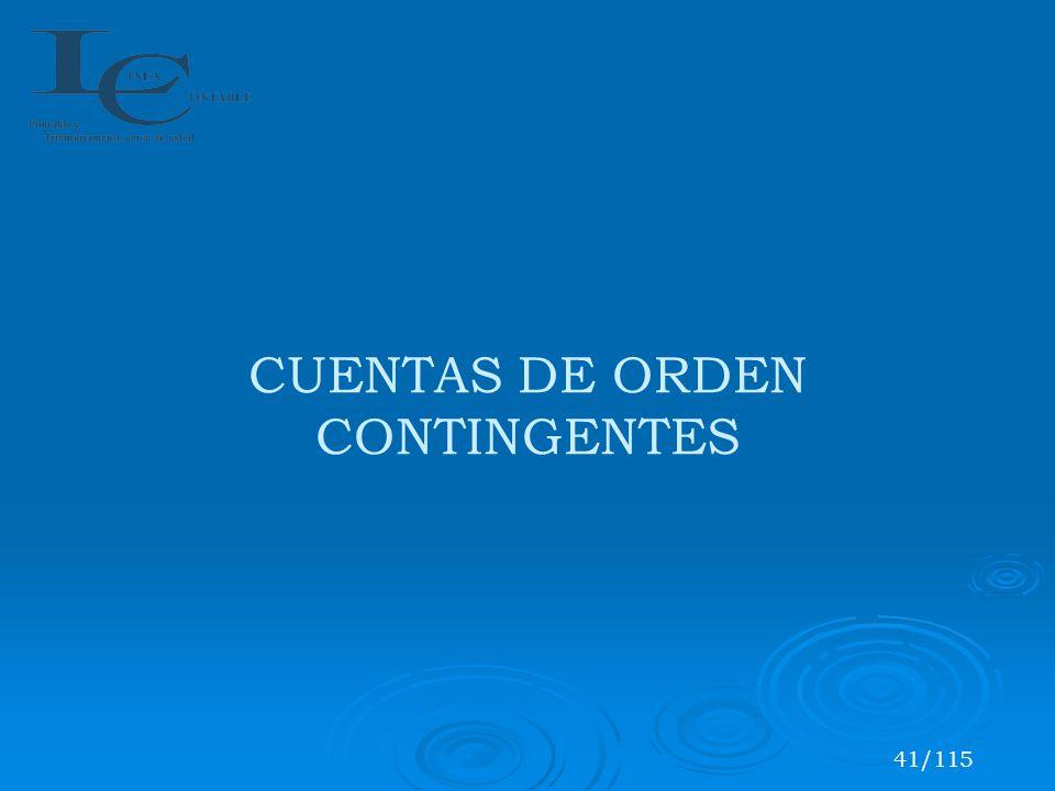 CUENTAS DE ORDEN CONTINGENTES