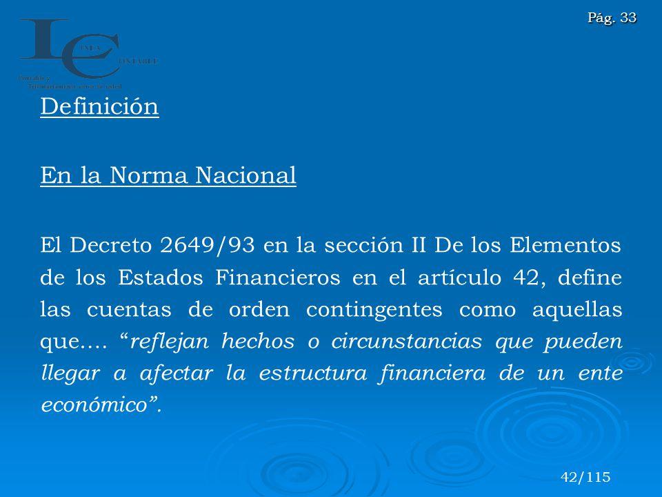 Definición En la Norma Nacional
