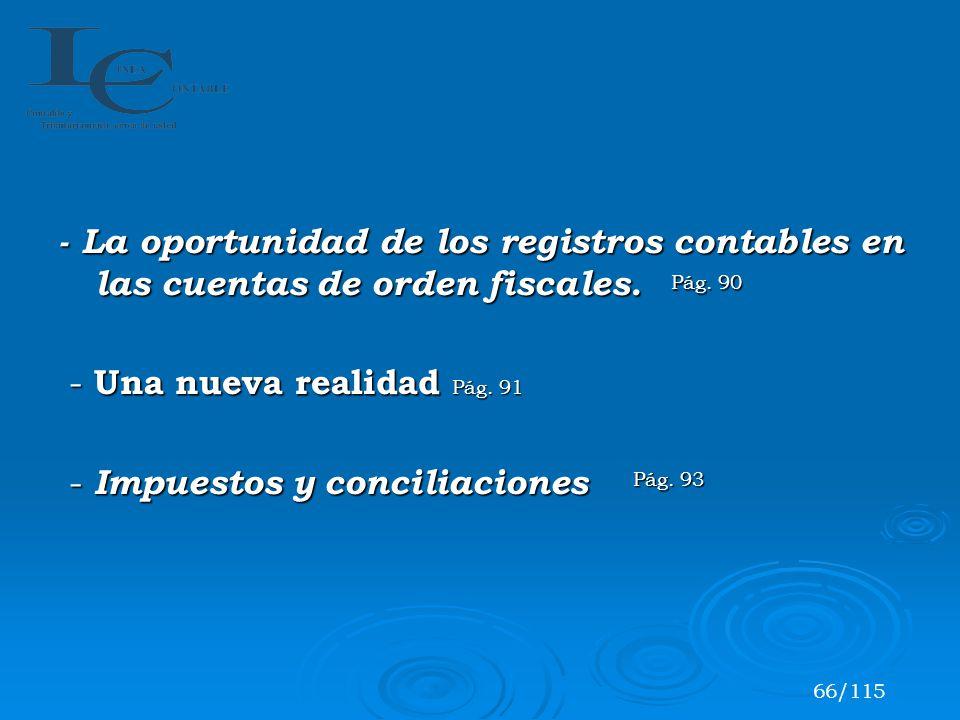 - Impuestos y conciliaciones