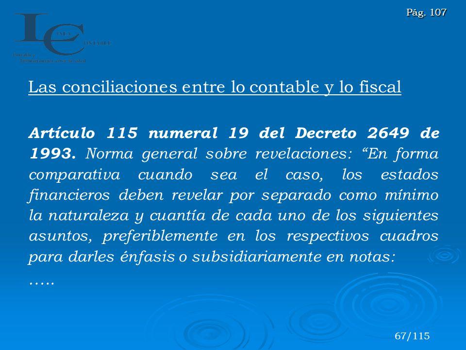 Las conciliaciones entre lo contable y lo fiscal