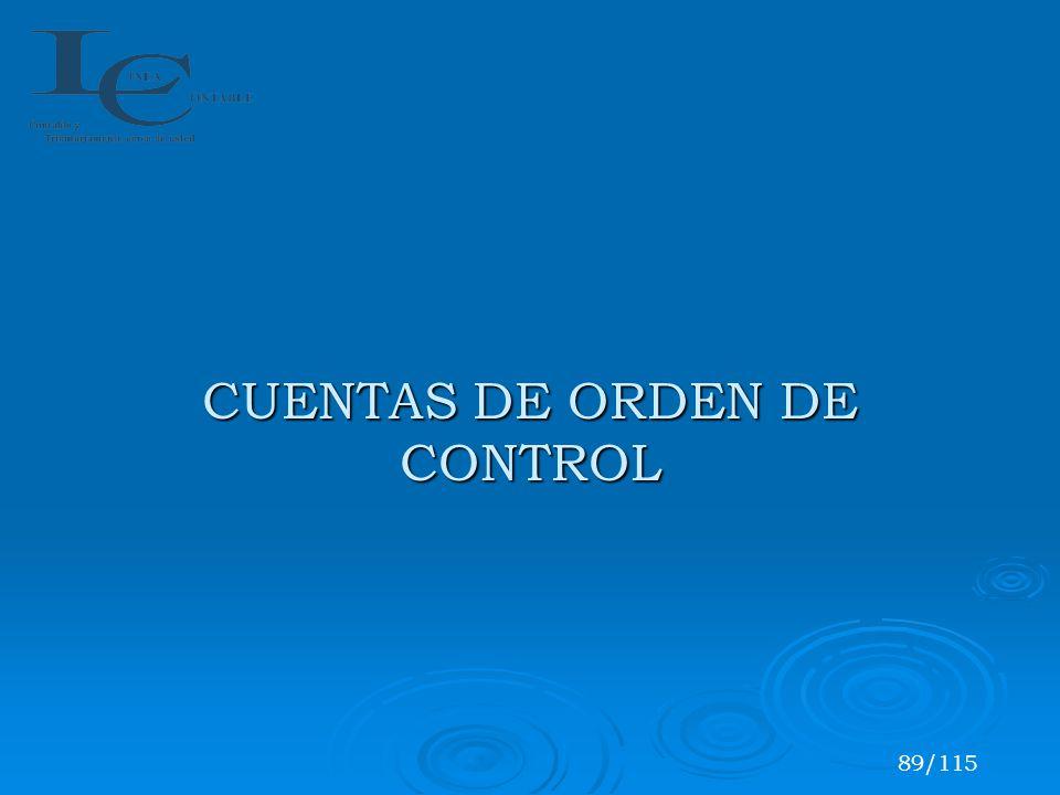 CUENTAS DE ORDEN DE CONTROL