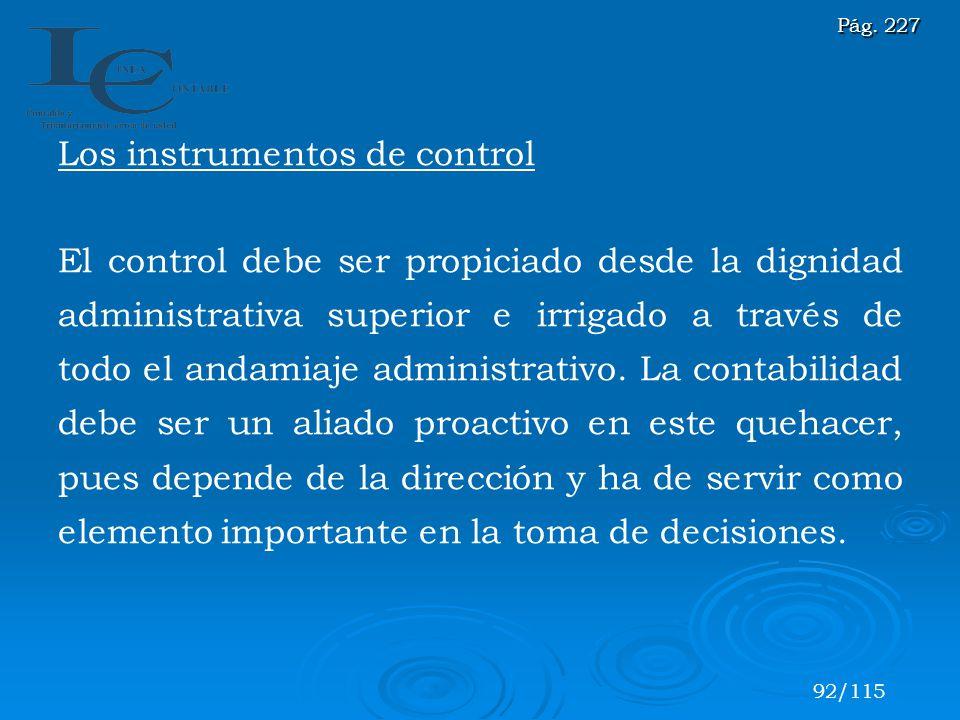 Los instrumentos de control