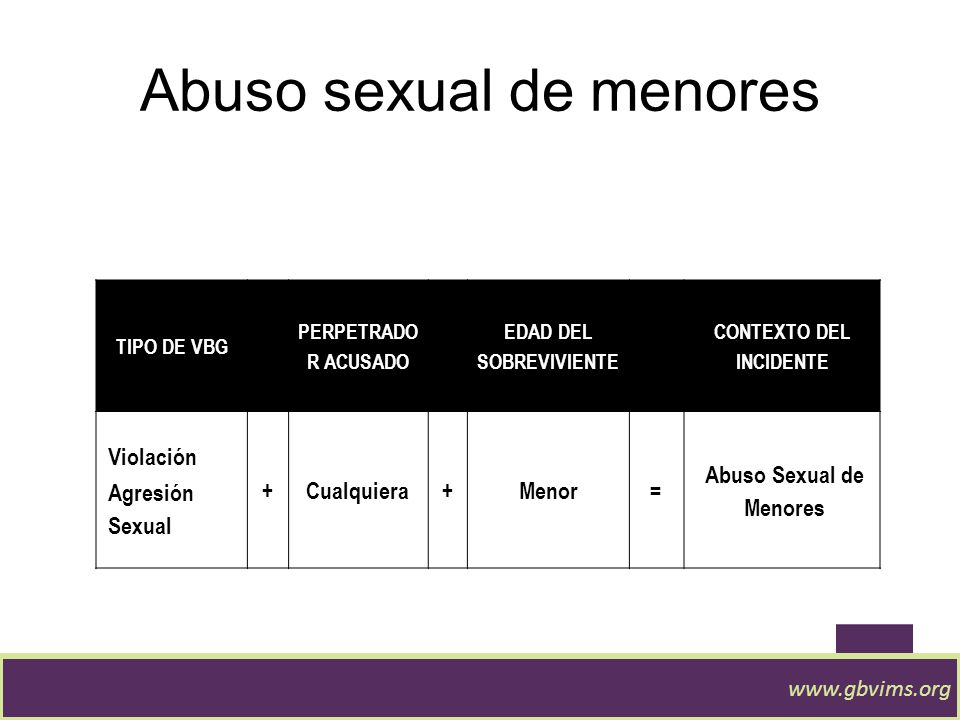 Abuso sexual de menores