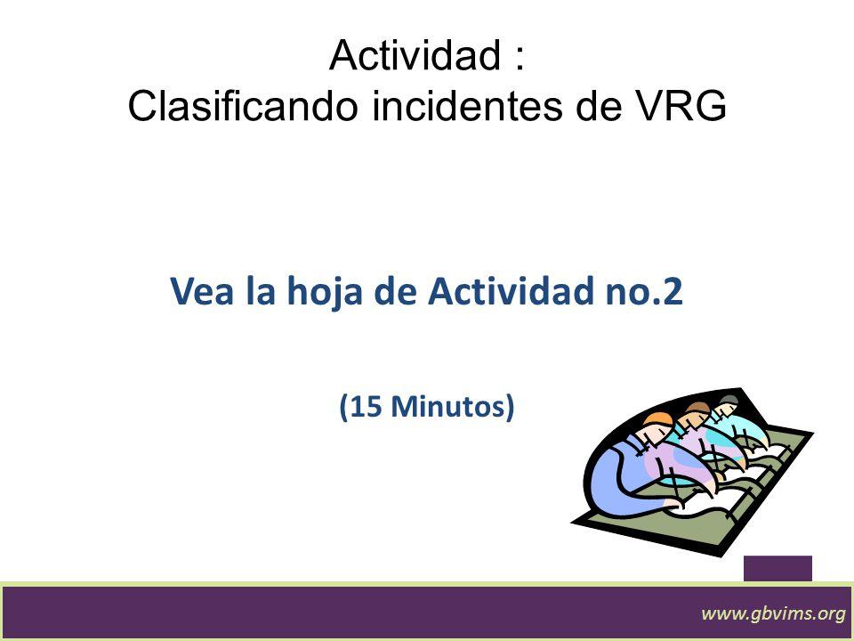 Actividad : Clasificando incidentes de VRG