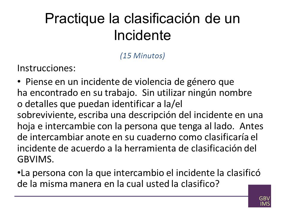 Practique la clasificación de un Incidente