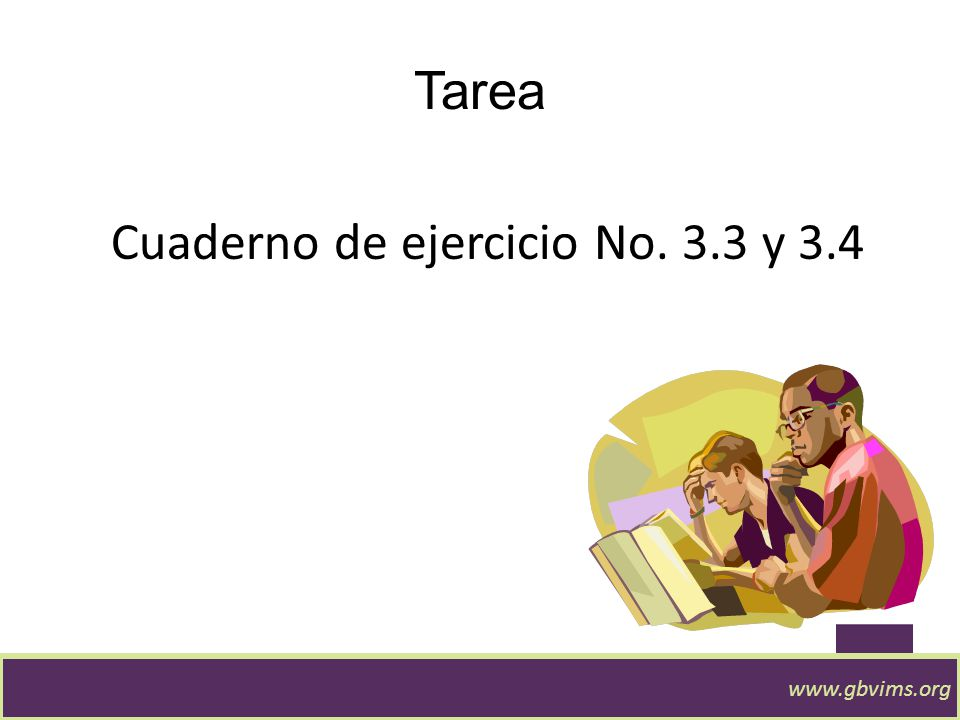 Cuaderno de ejercicio No. 3.3 y 3.4