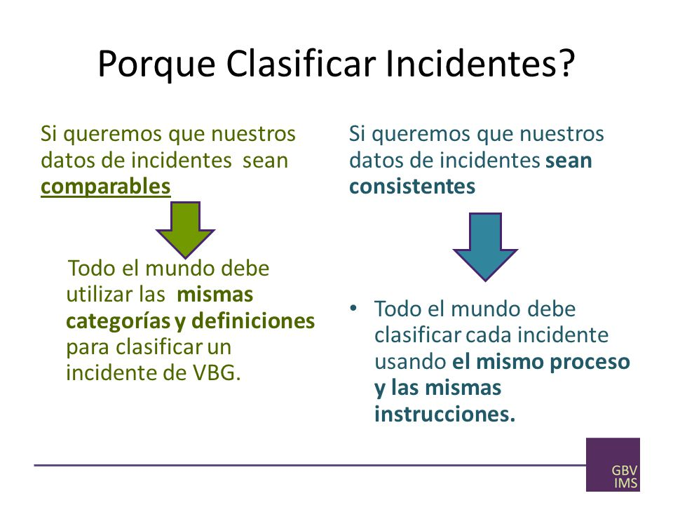 Porque Clasificar Incidentes
