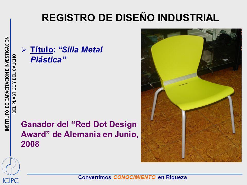 REGISTRO DE DISEÑO INDUSTRIAL