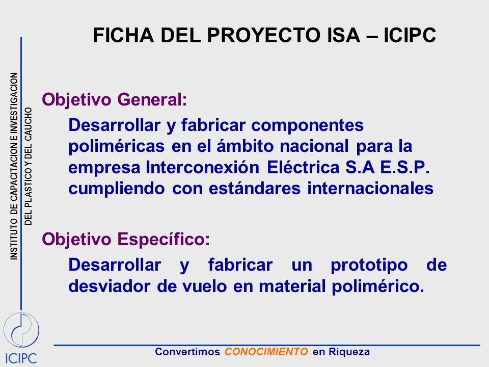 FICHA DEL PROYECTO ISA – ICIPC