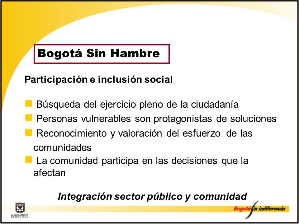 Integración sector público y comunidad