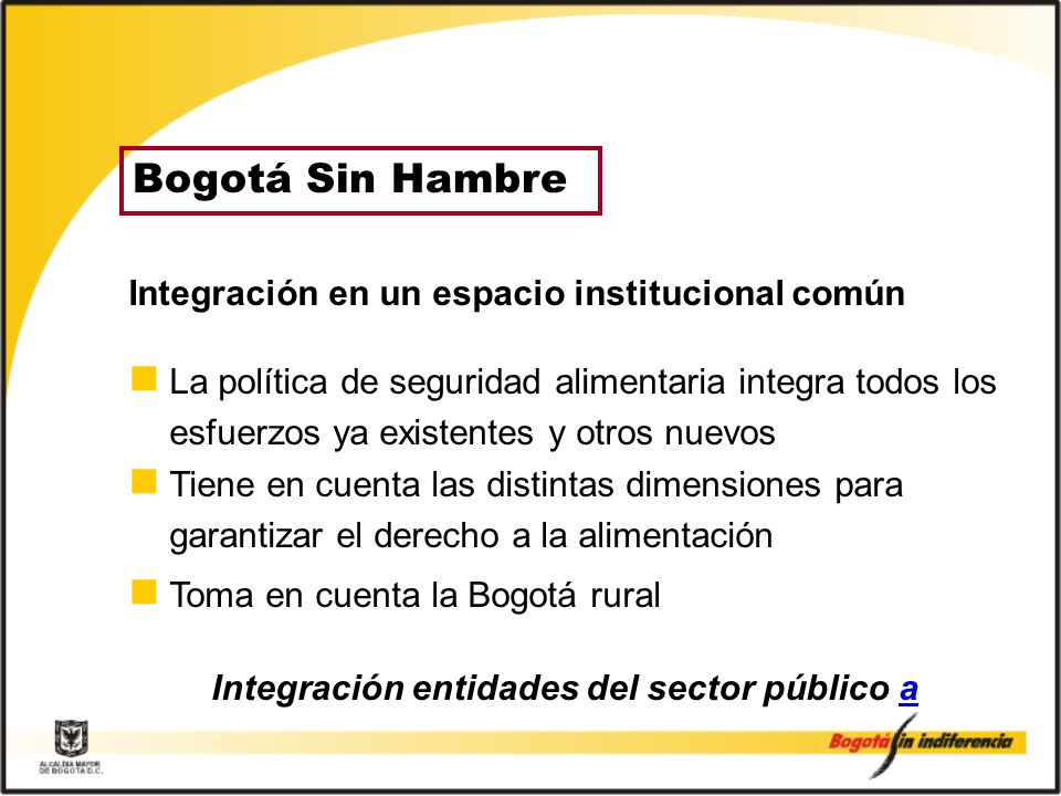Integración entidades del sector público a