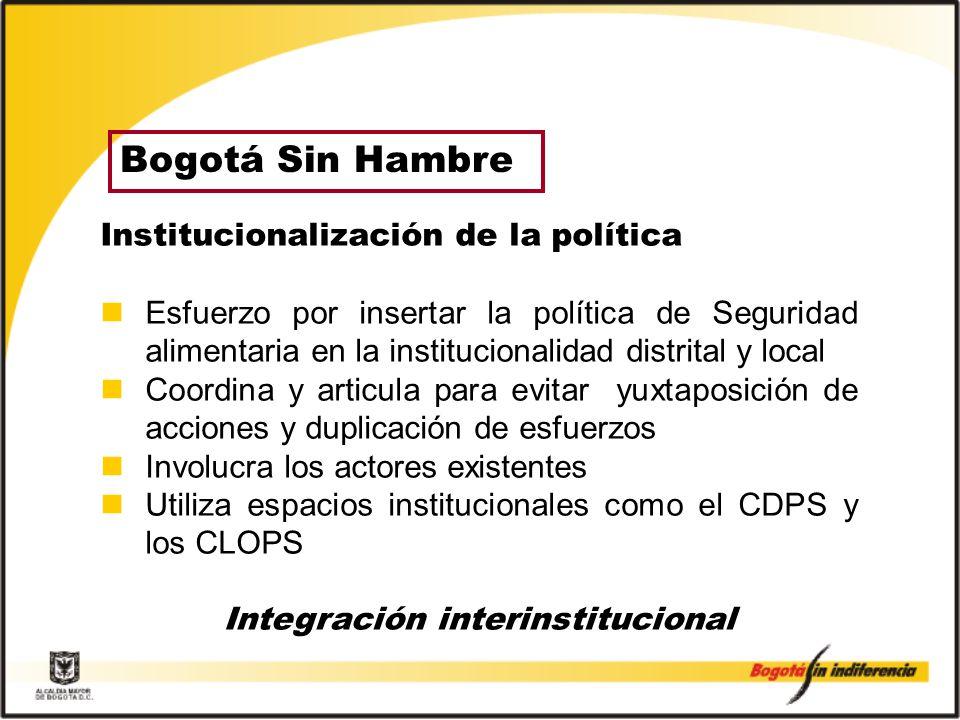 Integración interinstitucional