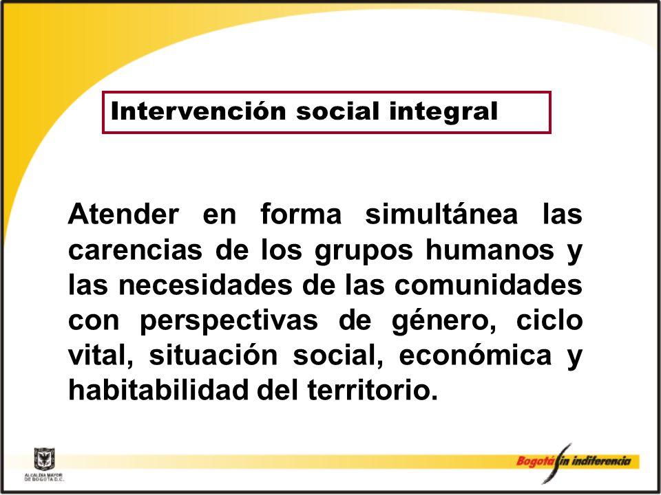 Intervención social integral