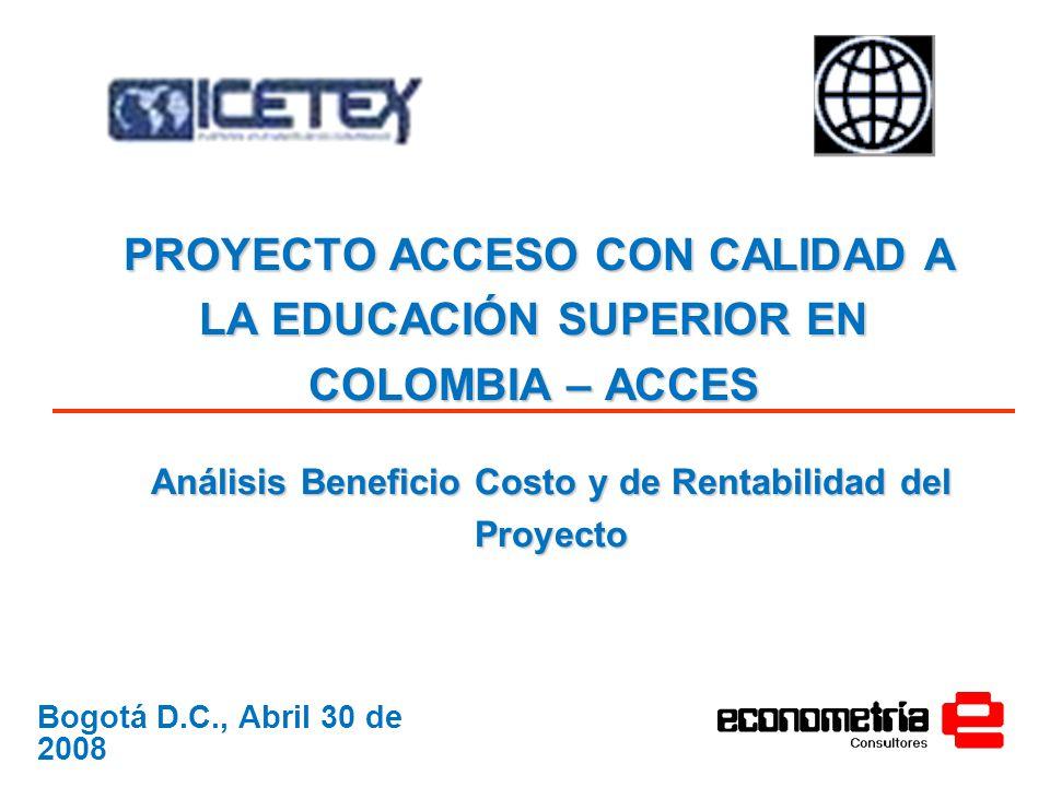 Análisis Beneficio Costo y de Rentabilidad del Proyecto