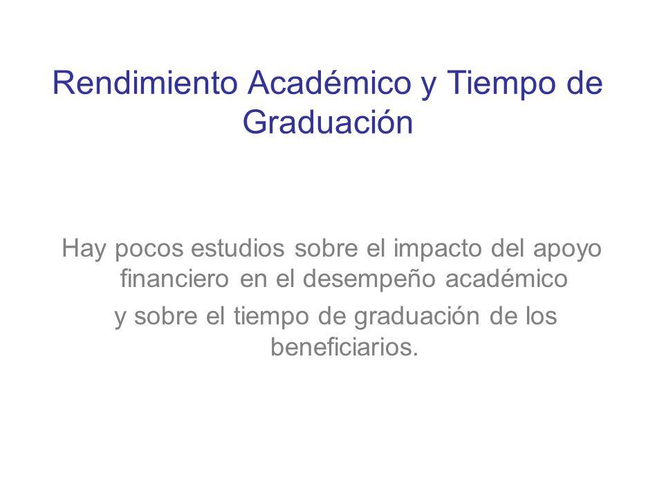 Rendimiento Académico y Tiempo de Graduación