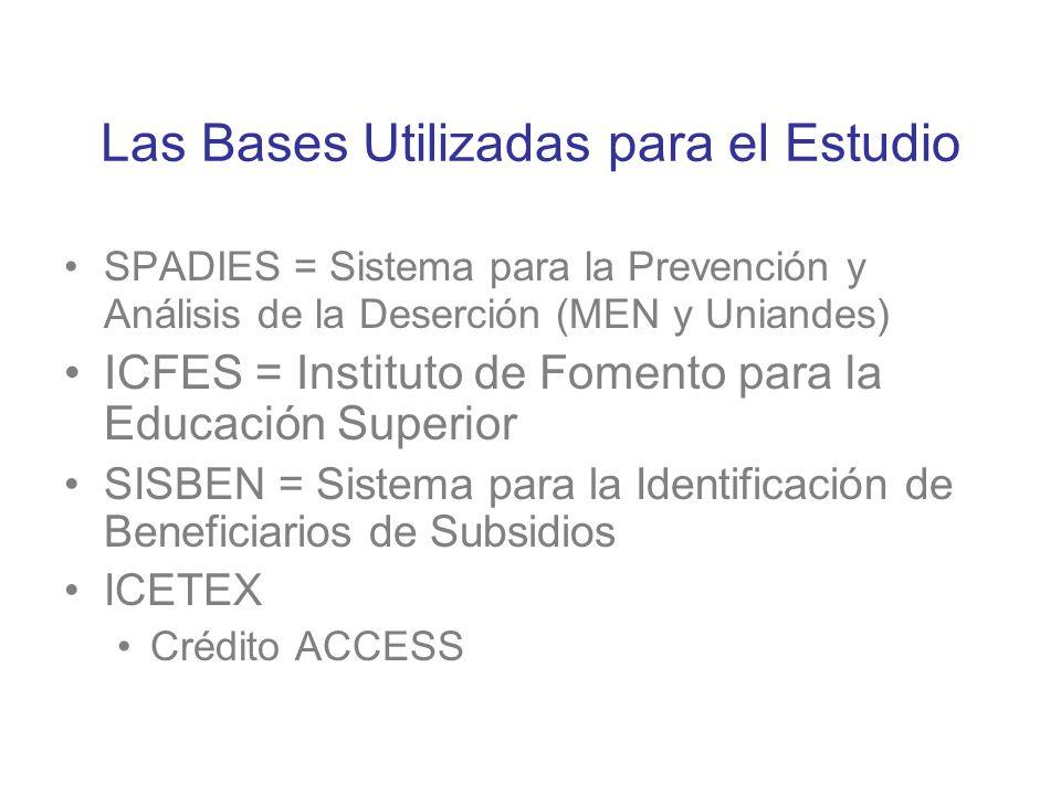 Las Bases Utilizadas para el Estudio