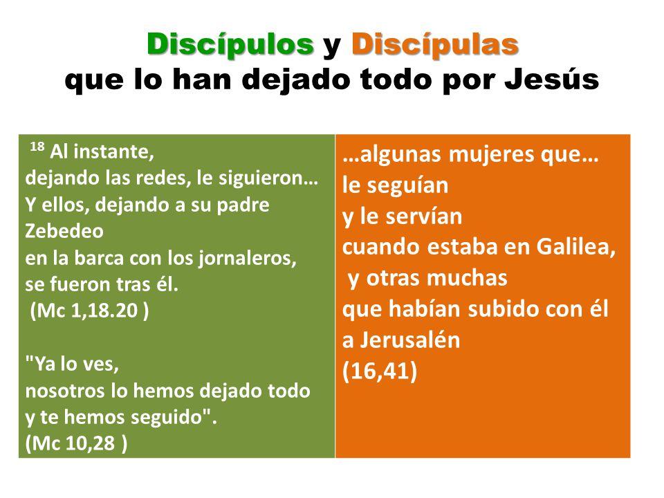 Discípulos y Discípulas que lo han dejado todo por Jesús