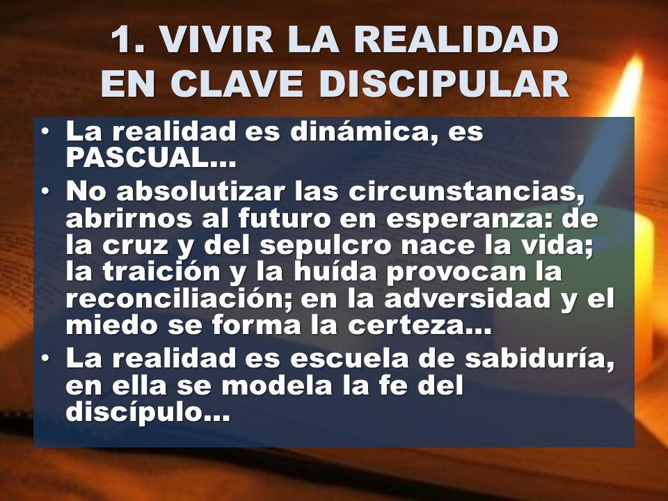 1. VIVIR LA REALIDAD EN CLAVE DISCIPULAR