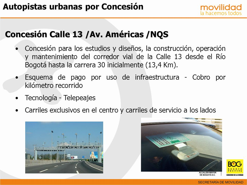 Autopistas urbanas por Concesión