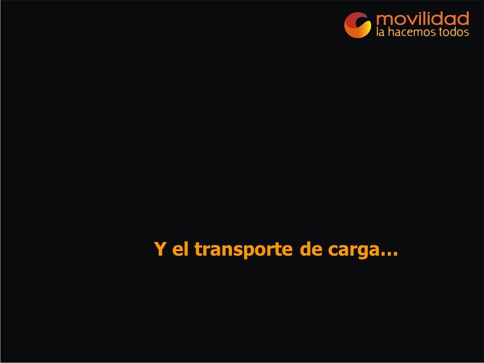 Y el transporte de carga…