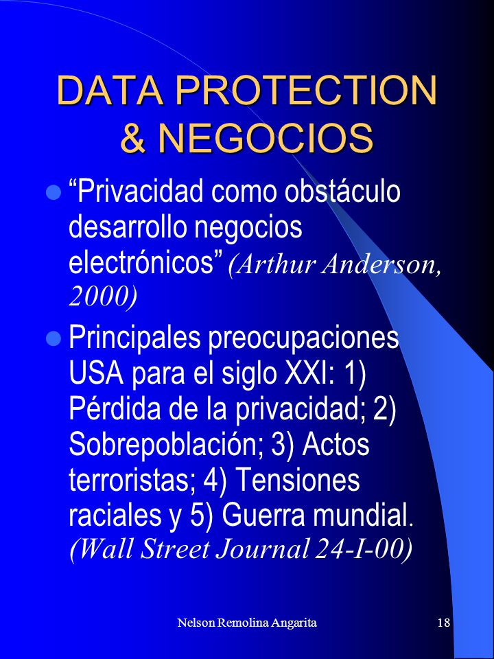 DATA PROTECTION & NEGOCIOS
