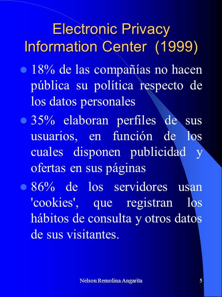 Electronic Privacy Information Center (1999)