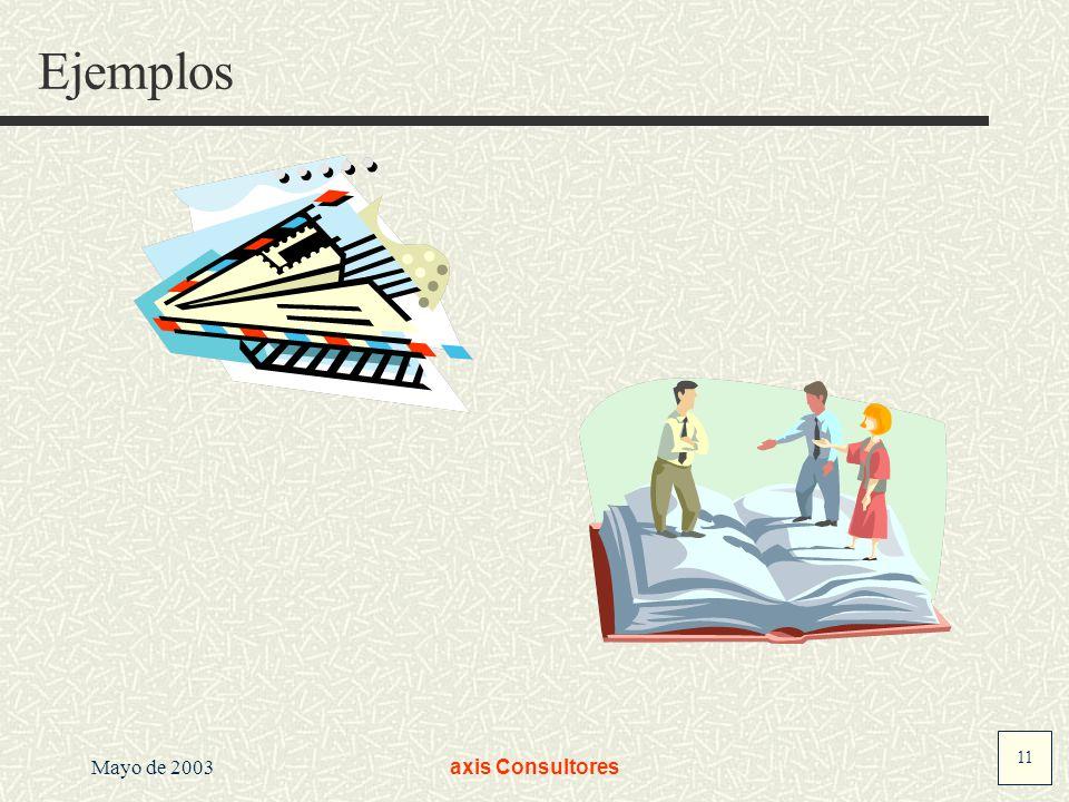 Ejemplos Mayo de 2003 axis Consultores