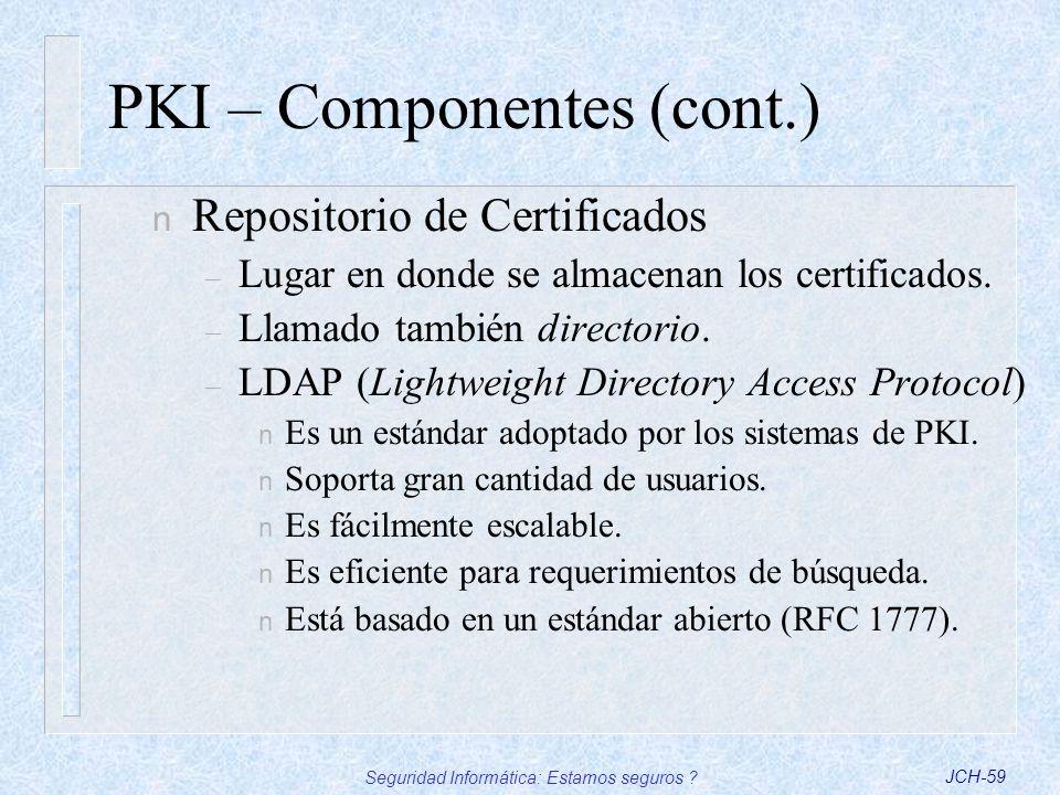 PKI – Componentes (cont.)