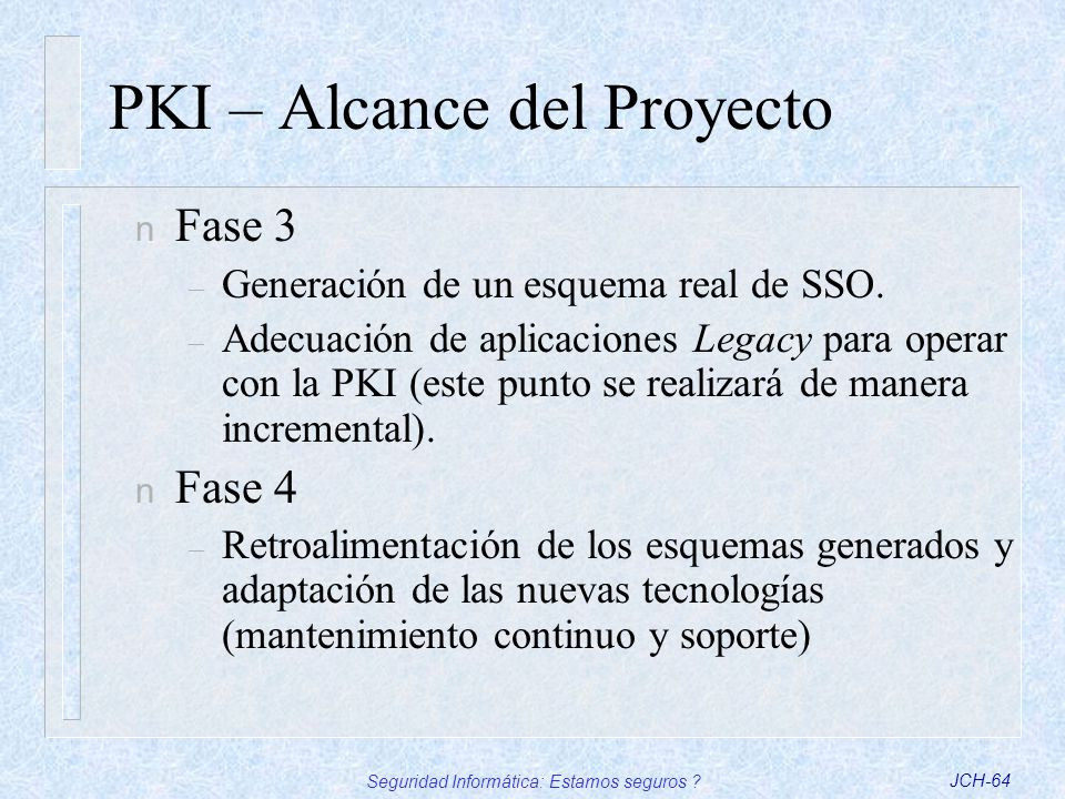 PKI – Alcance del Proyecto