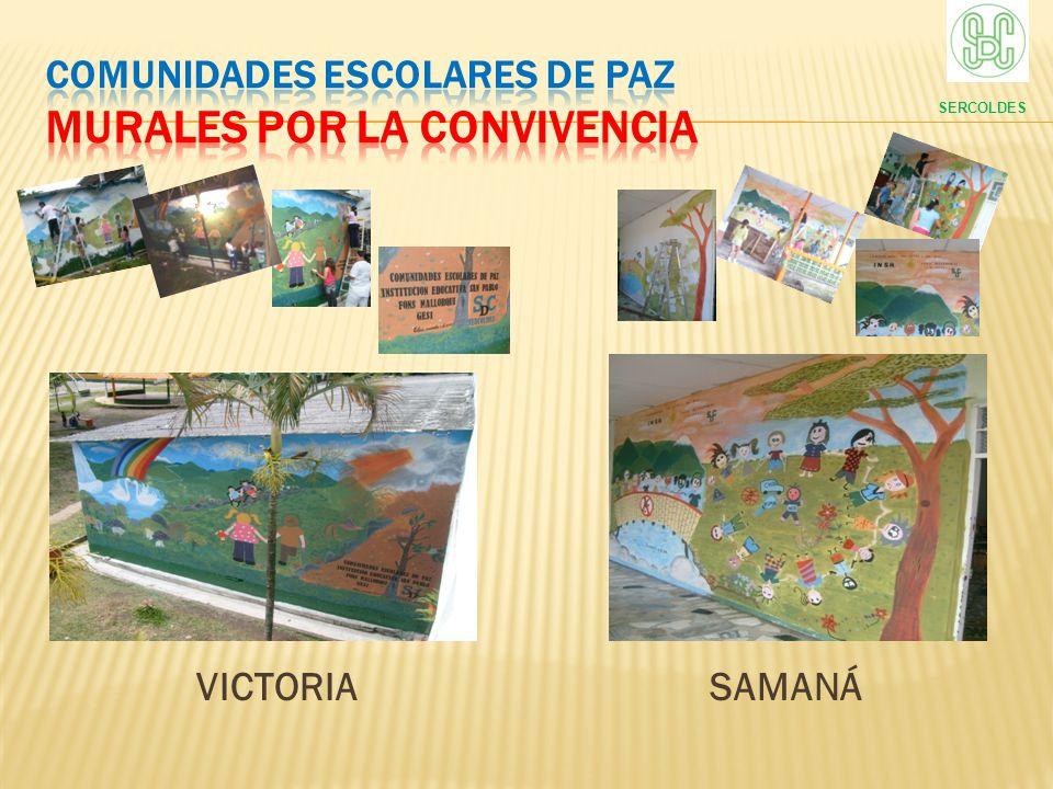 COMUNIDADES ESCOLARES DE PAZ murales por la convivencia