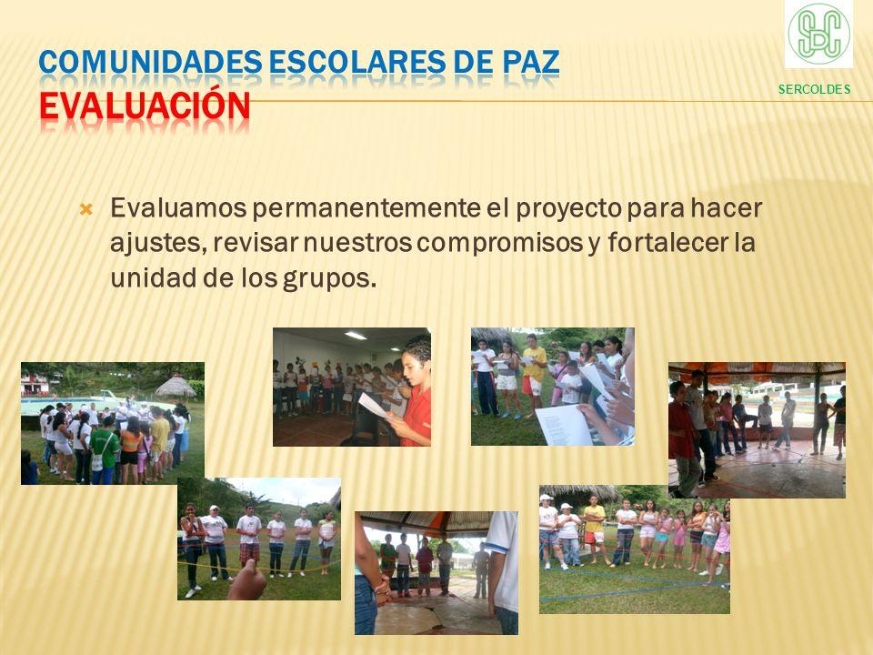 COMUNIDADES ESCOLARES DE PAZ evaluación