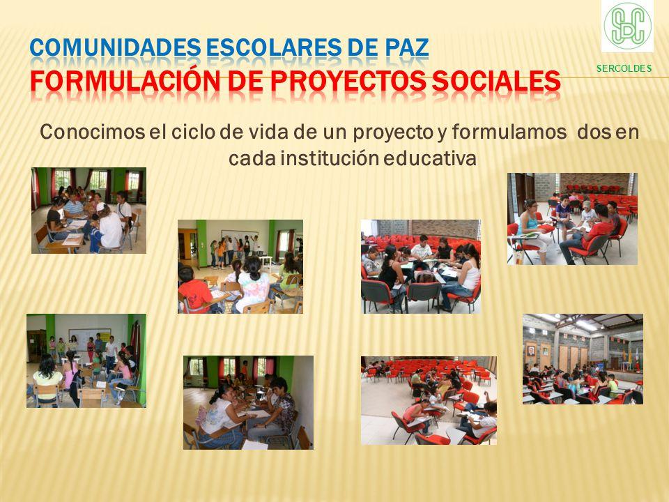 COMUNIDADES ESCOLARES DE PAZ formulación de proyectos sociales