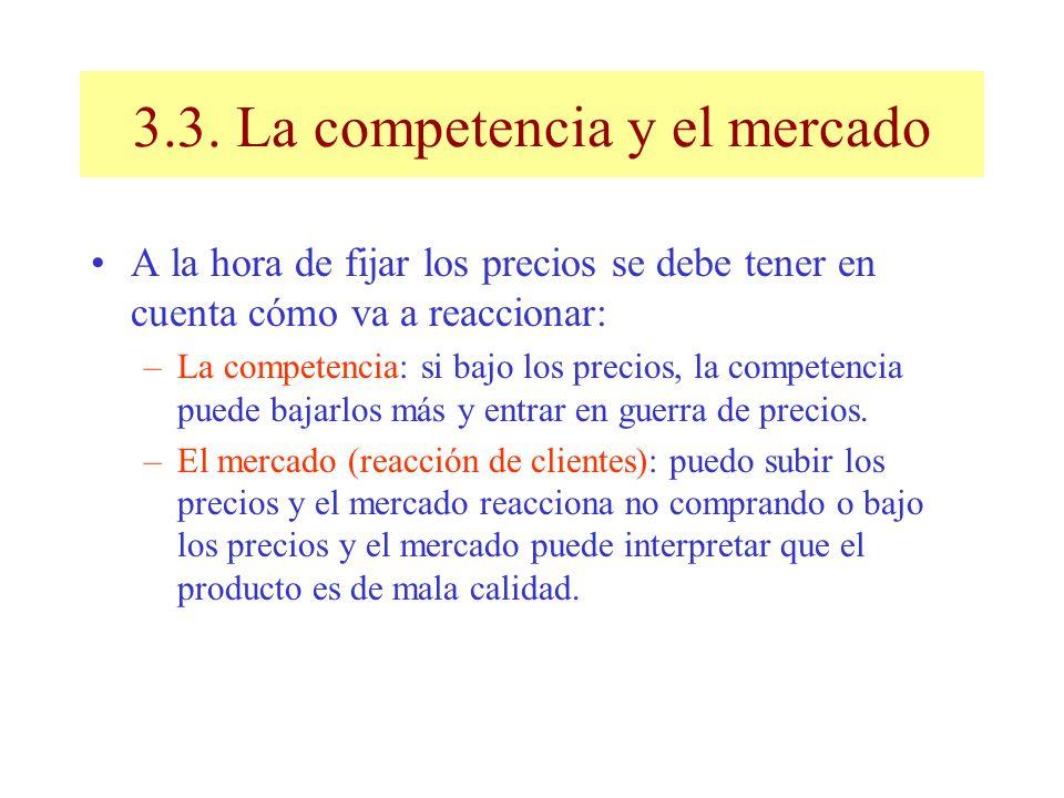 3.3. La competencia y el mercado