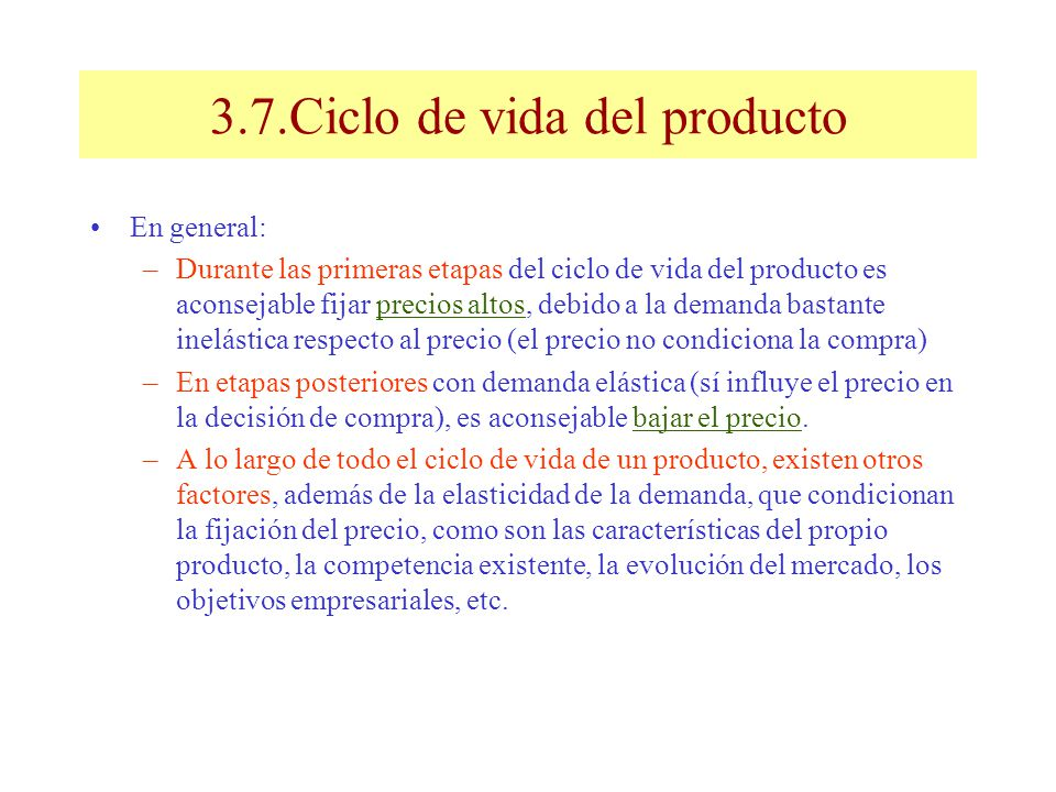 3.7.Ciclo de vida del producto