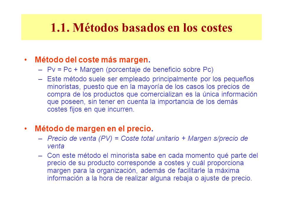 1.1. Métodos basados en los costes