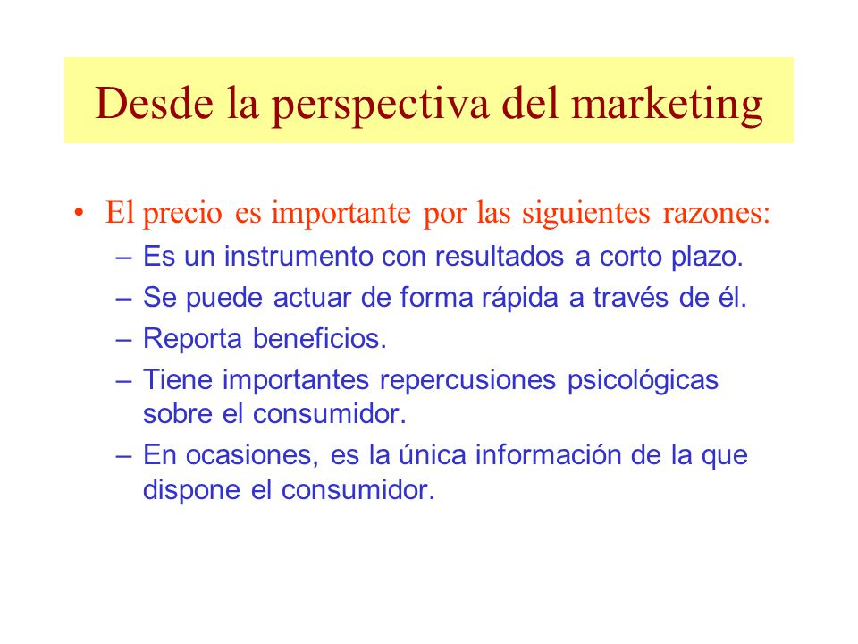 Desde la perspectiva del marketing