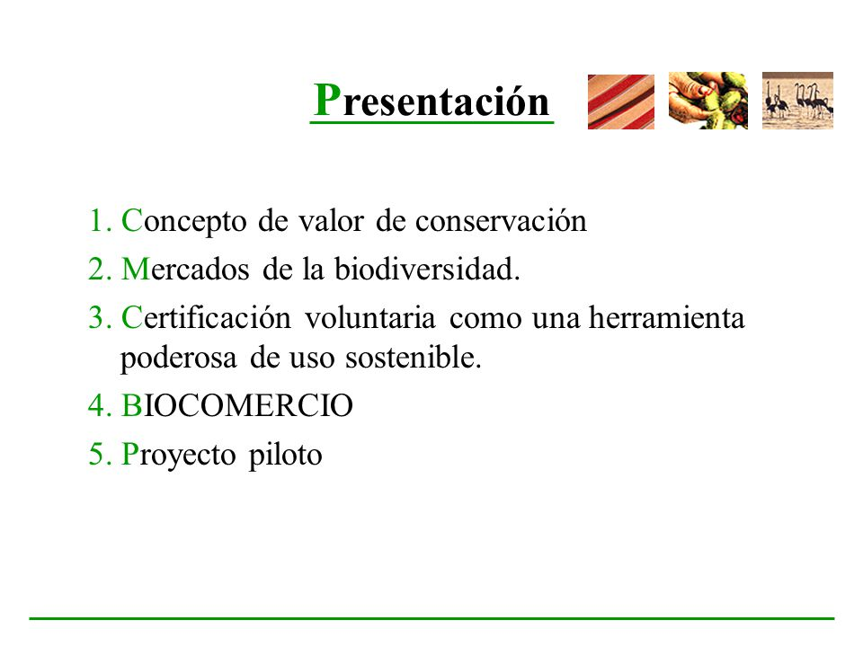 Presentación 1. Concepto de valor de conservación