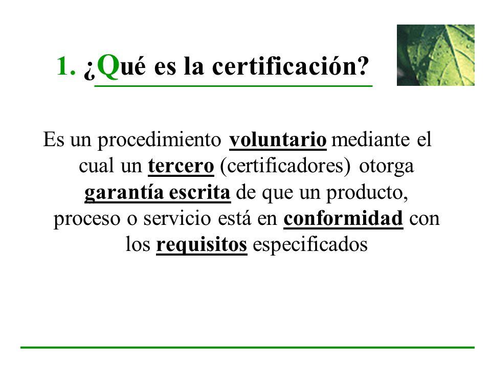 1. ¿Qué es la certificación