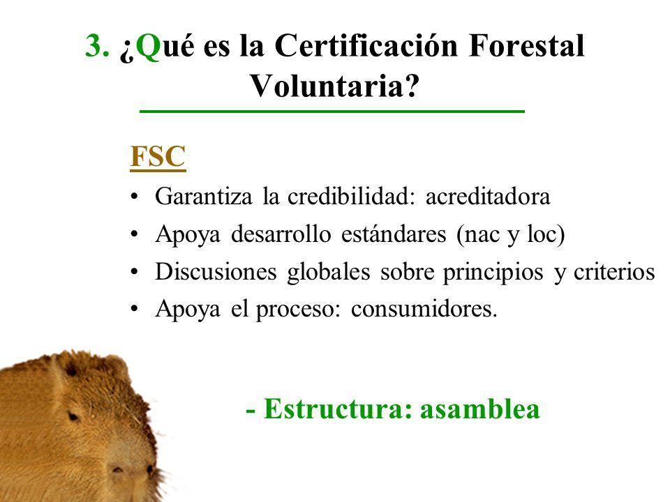 3. ¿Qué es la Certificación Forestal Voluntaria