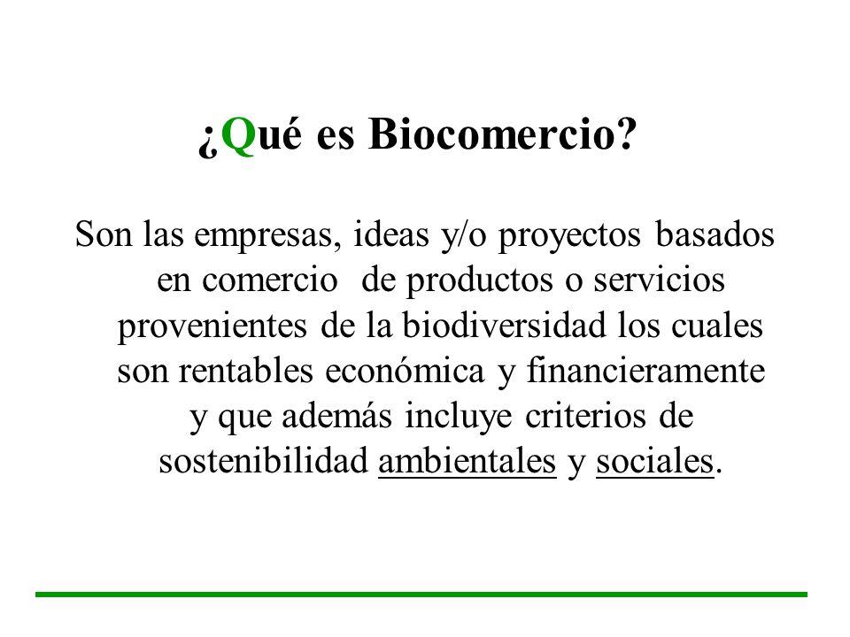 ¿Qué es Biocomercio