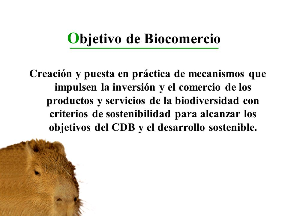 Objetivo de Biocomercio