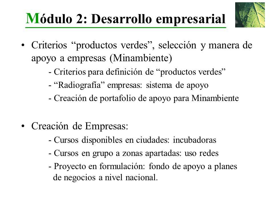 Módulo 2: Desarrollo empresarial