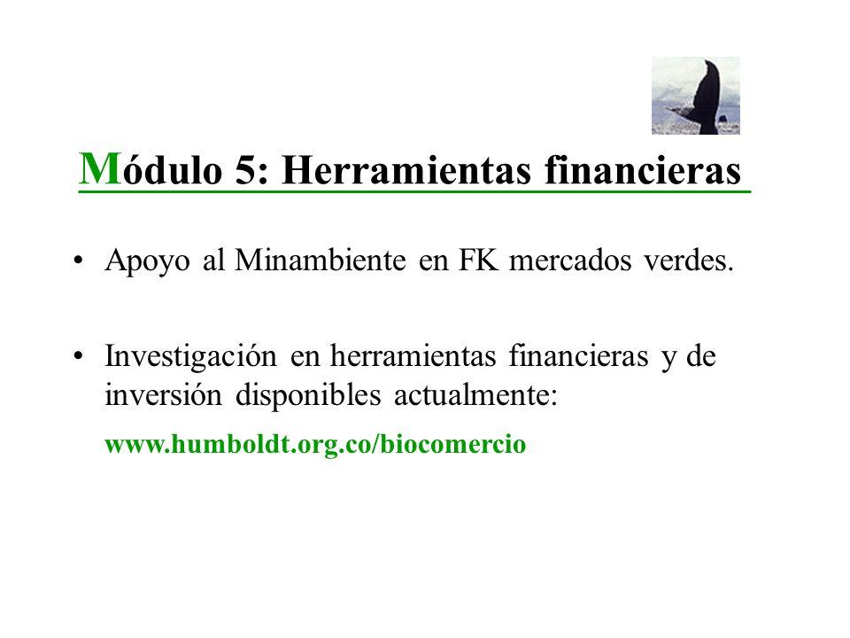 Módulo 5: Herramientas financieras