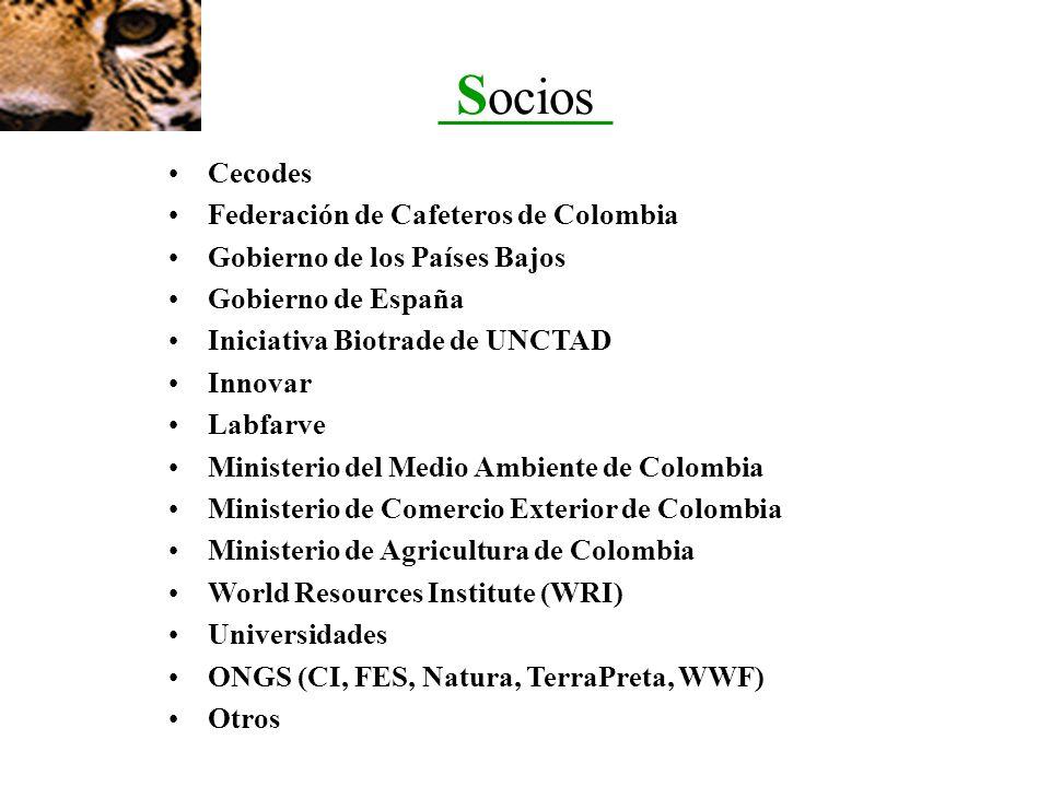 Socios Cecodes Federación de Cafeteros de Colombia