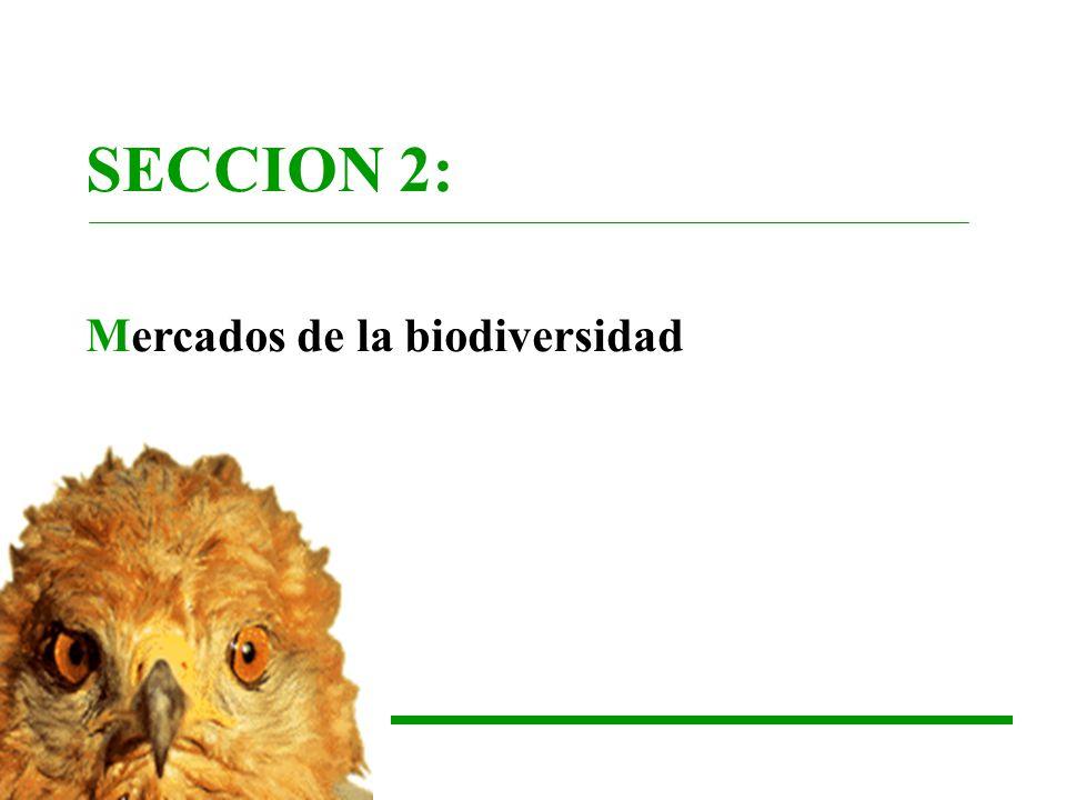 SECCION 2: Mercados de la biodiversidad