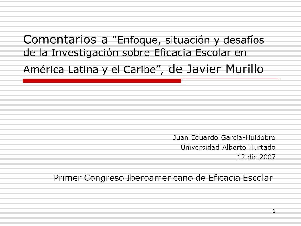 Primer Congreso Iberoamericano de Eficacia Escolar