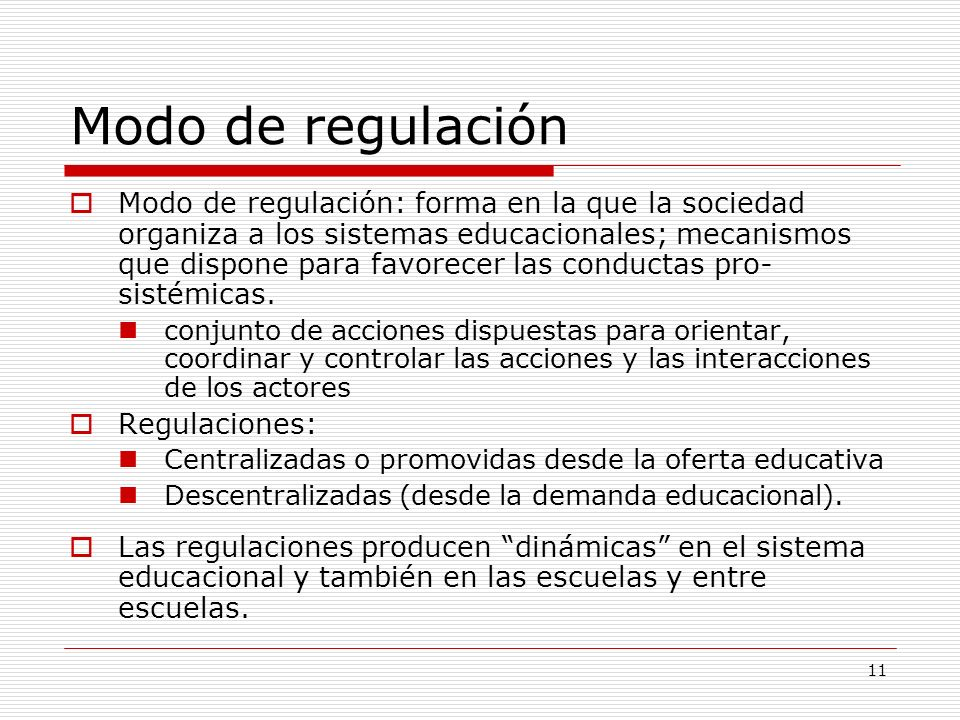 Modo de regulación