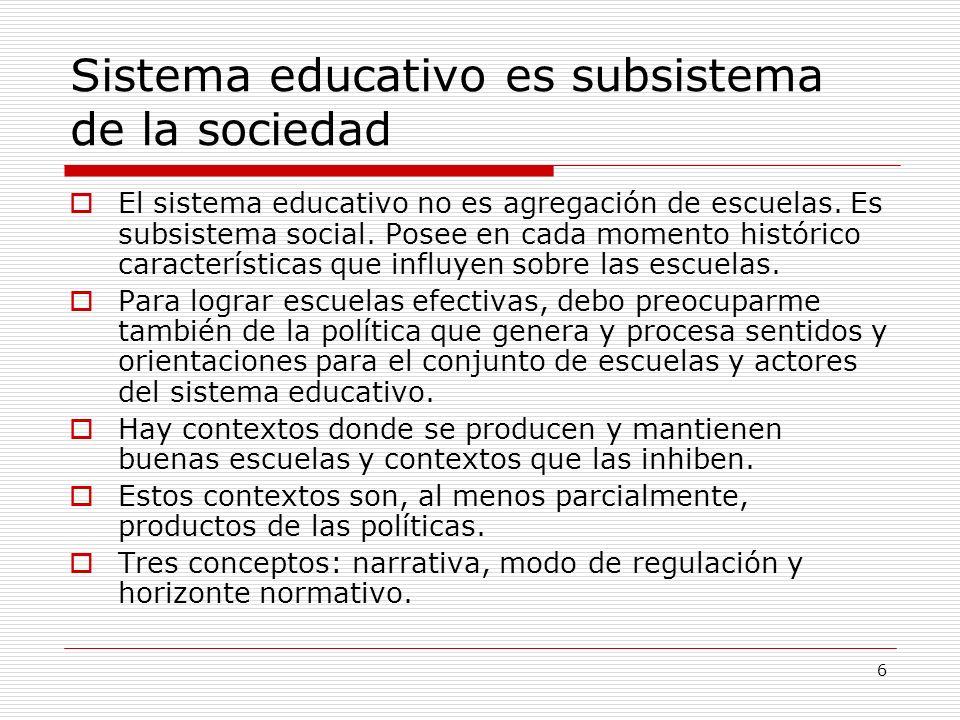 Sistema educativo es subsistema de la sociedad
